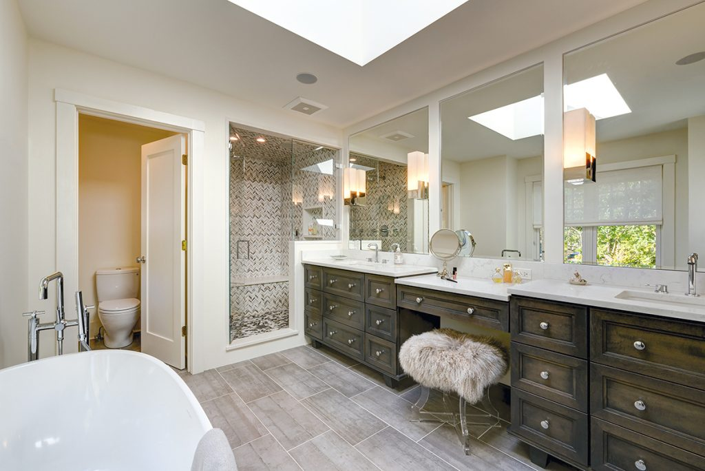 Nancy Jacobson Collaborated With Amy Kartheiser Design To Transform This  Clientsu0027 Master Bathroom, Designing The Expansive Vanity With  Furniture Style ...