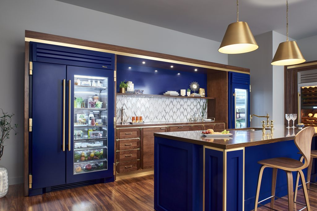 Glass Door Refrigerator With Range Of Finish Options For