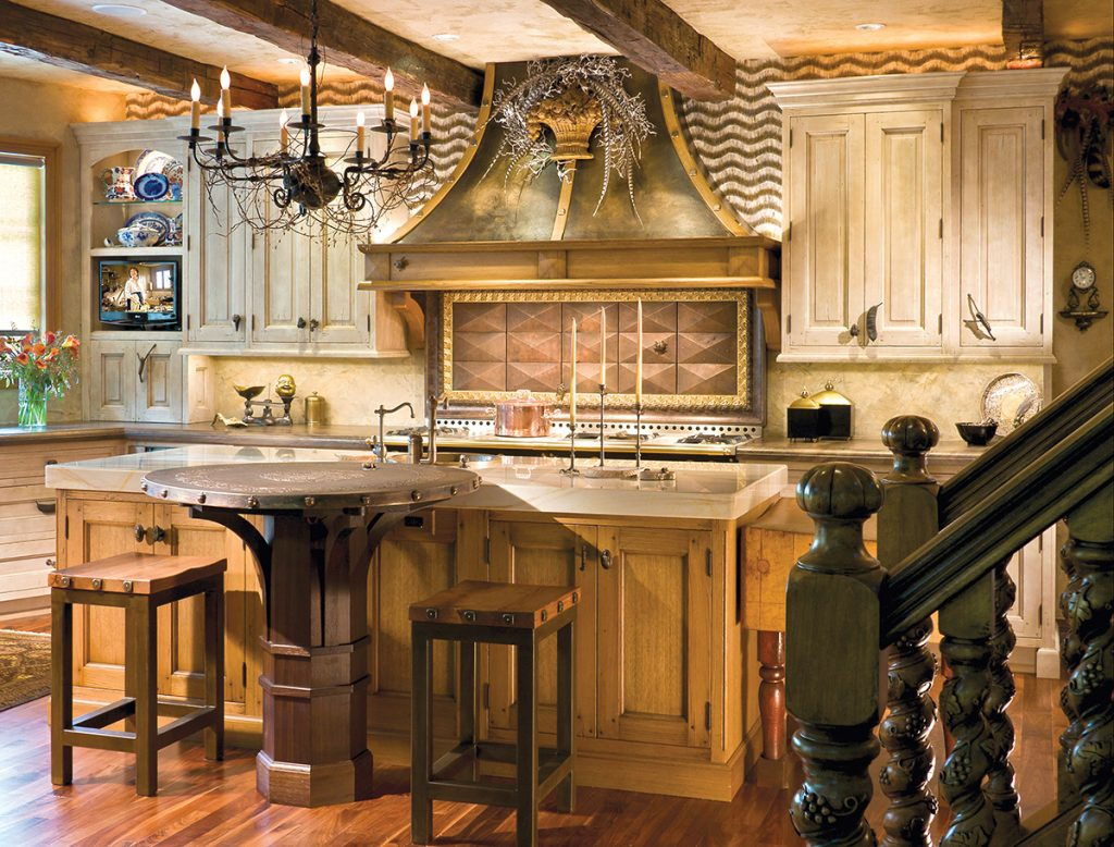 Designed For An Artist By PB Kitchen Design, This Kitchen Features A Host Of  Unique Elements, Including Handmade Dimensional Tile And A Hand Forged Iron  ...