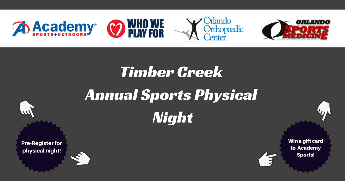 sports physical form ocps  Timber Creek - Team Home Timber Creek Wolves Sports