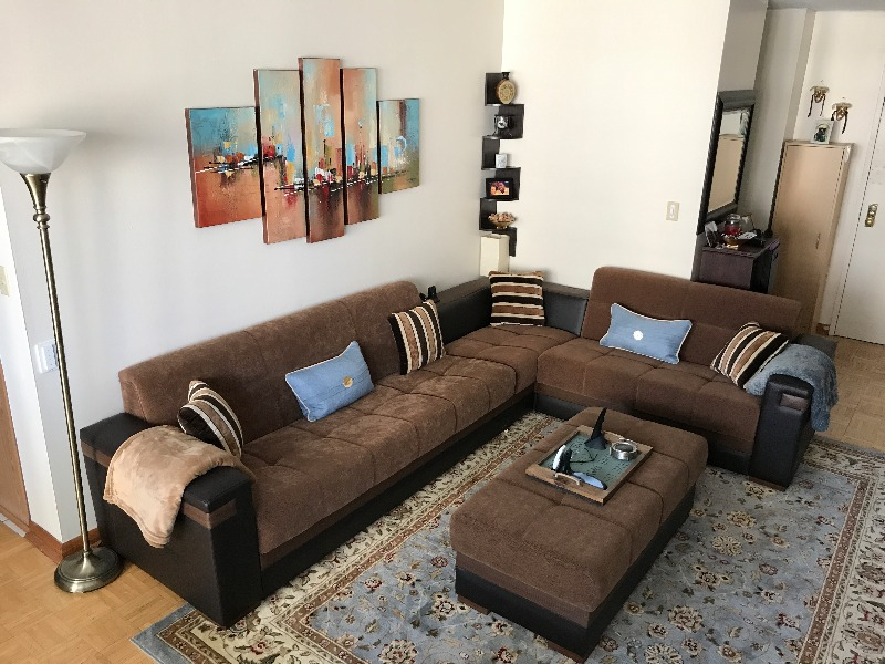 leather gus ikea sleeper couch sectional of sofa creative brown
