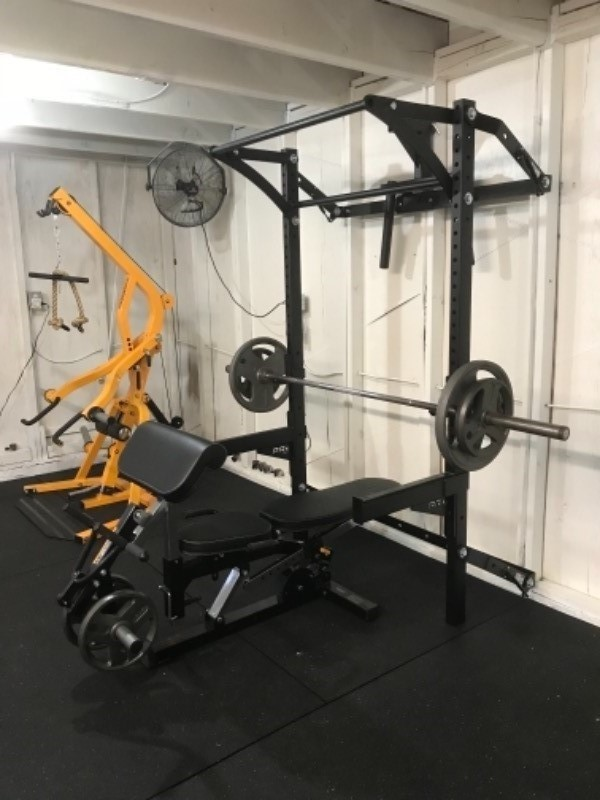 Profile squat rack with kipping bar™ as seen on abc s