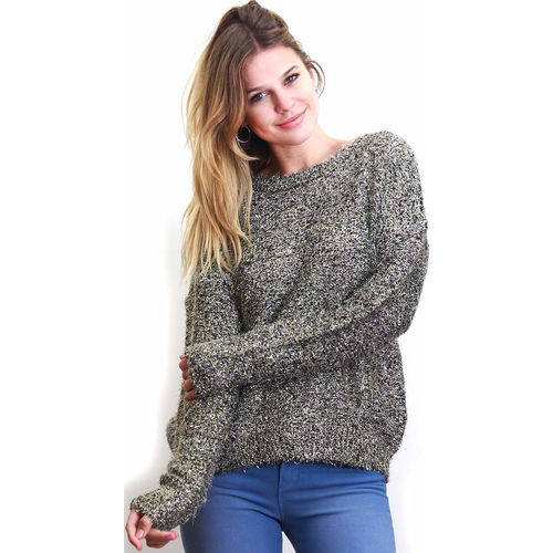 Sweater de brillo plateado