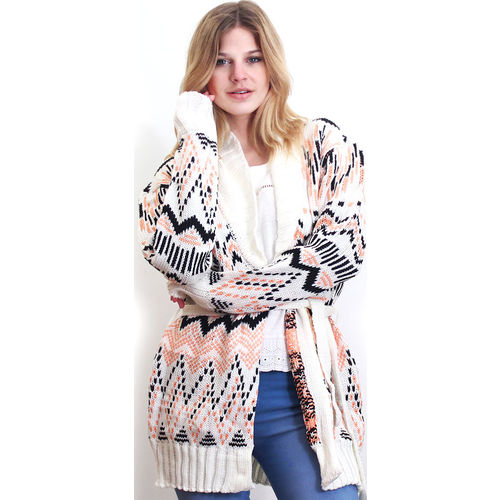Cardigan jackard natural