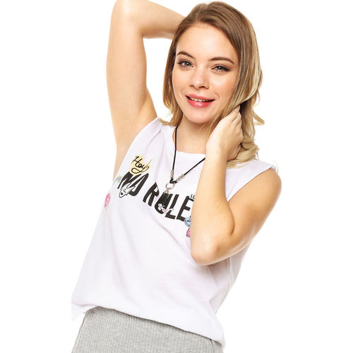 Musculosa Blanca 47 Street No Rules 47 Street