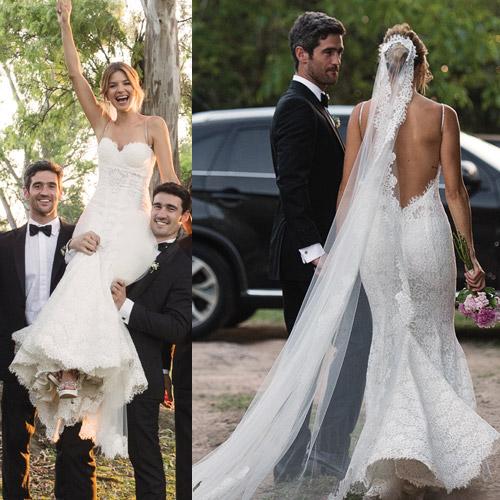 8 vestidos de novia de famosas que dieron el ¡sí! - el bazar