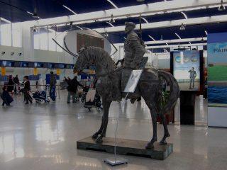 Sculpture of a Desert Rider