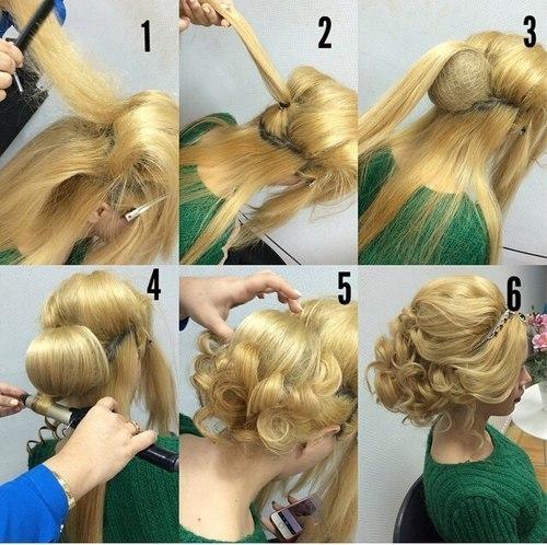 Детские причёска на средние волосы своими руками пошаговая инструкция