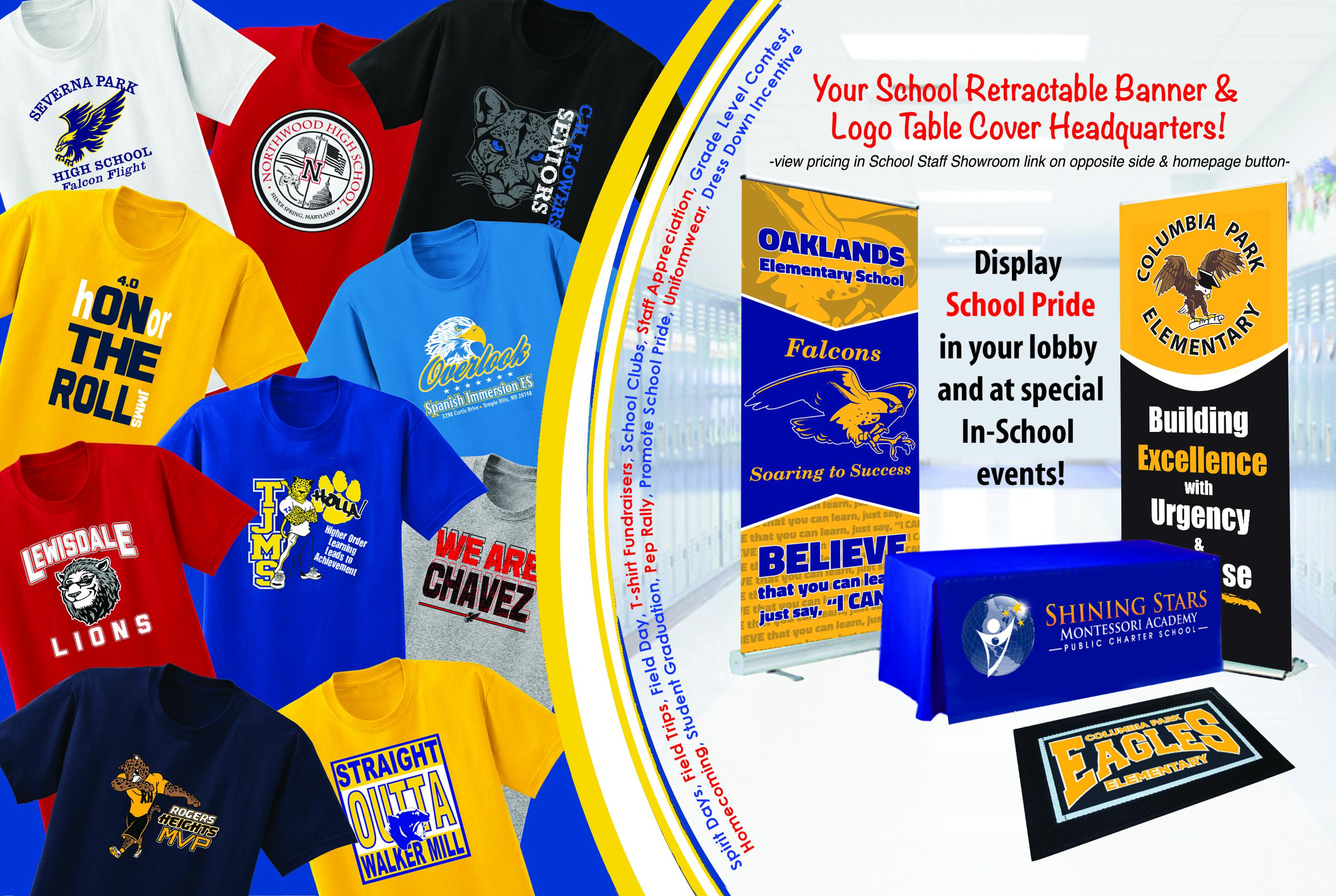School Staff Apparel Banner