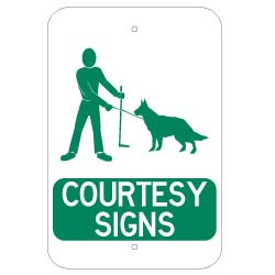 Courtesy Signs