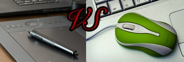 Drawing With Mouse VS Graphics Tablet comparison to create digital art Featured