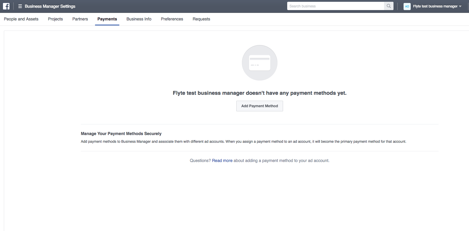 how do i set up facebook ad manager accounts for clients add payment method if you don t have one