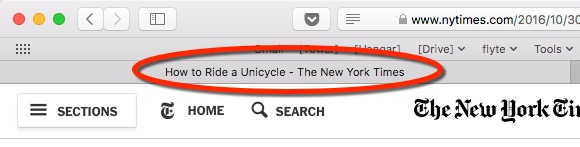 The Title Tag in a Tab