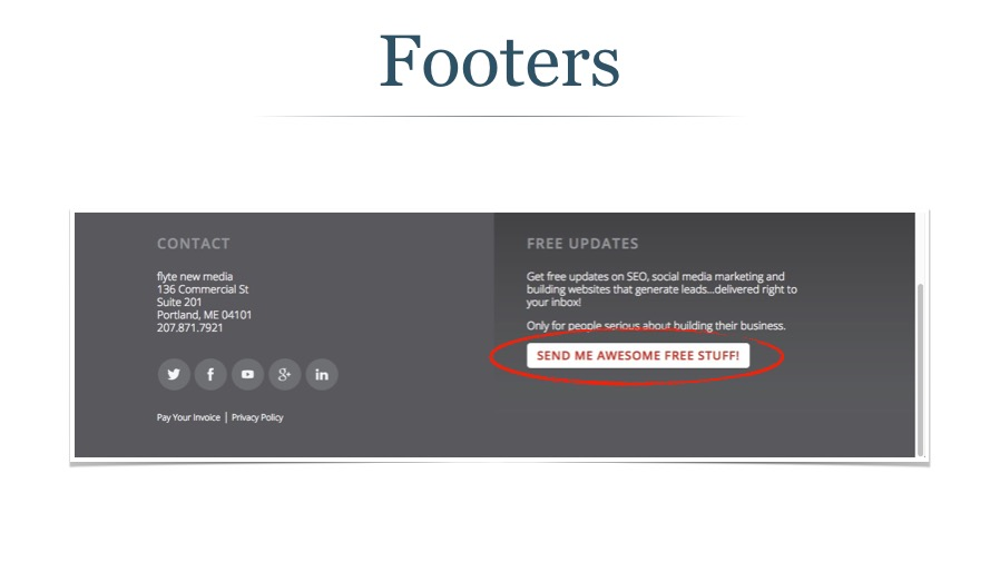 Email Signup in Website Footer