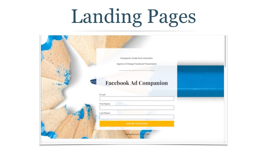 Create Special Landing Pages for Email Signups