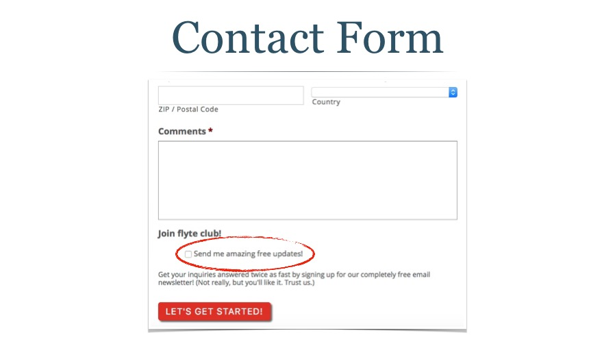 Use Your Contact Form for Email Signups