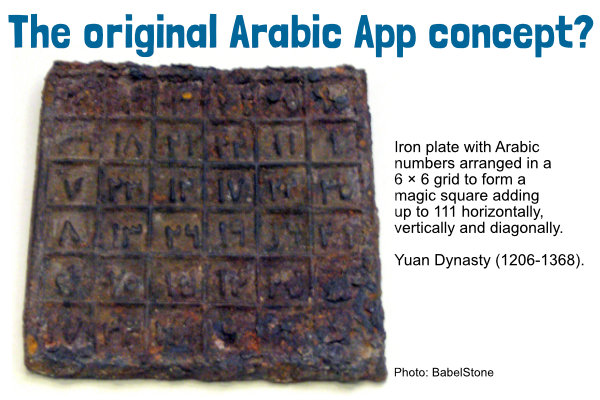 The original Arabic app concept