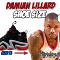 What is the size of Damian Lillards feet?