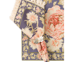 Featured Product Rose Nouveau Napkin Set in Dusty Amethyst