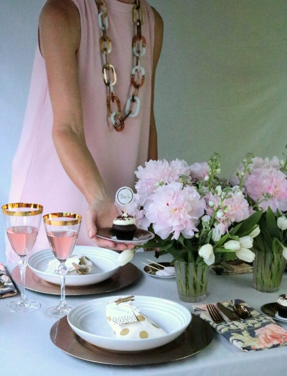 2 Gold Inspired Bridal Shower Tablescape Krayl Funch For Iha 3305