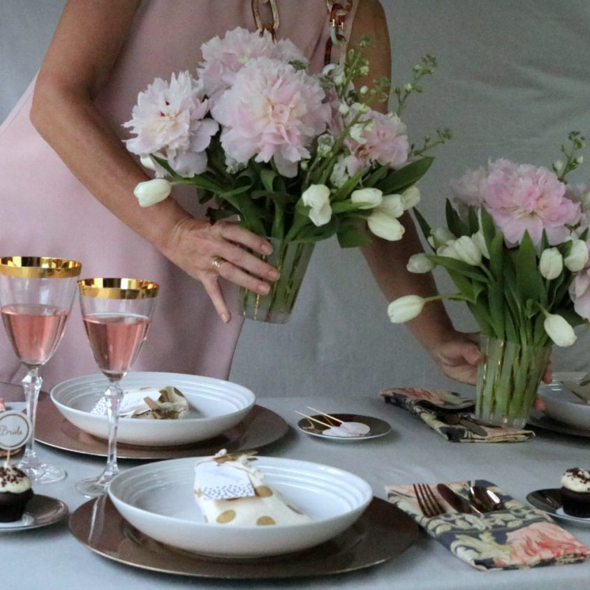 3 Gold Inspired Bridal Shower Tablescape Krayl Funch For Iha 3316