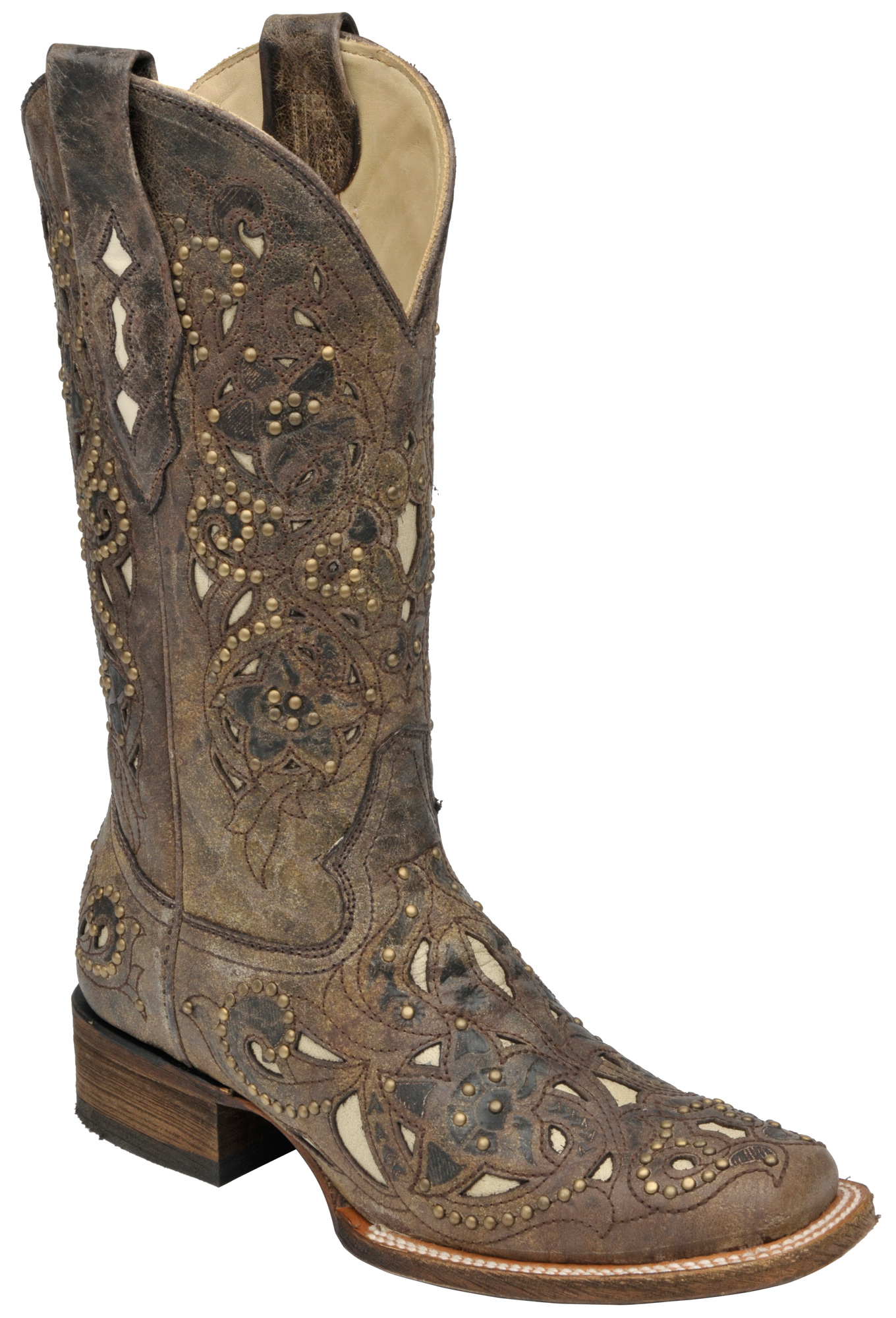 Innovative Corral Womenu0026#39;s Circle G Filigree Boots - Beige