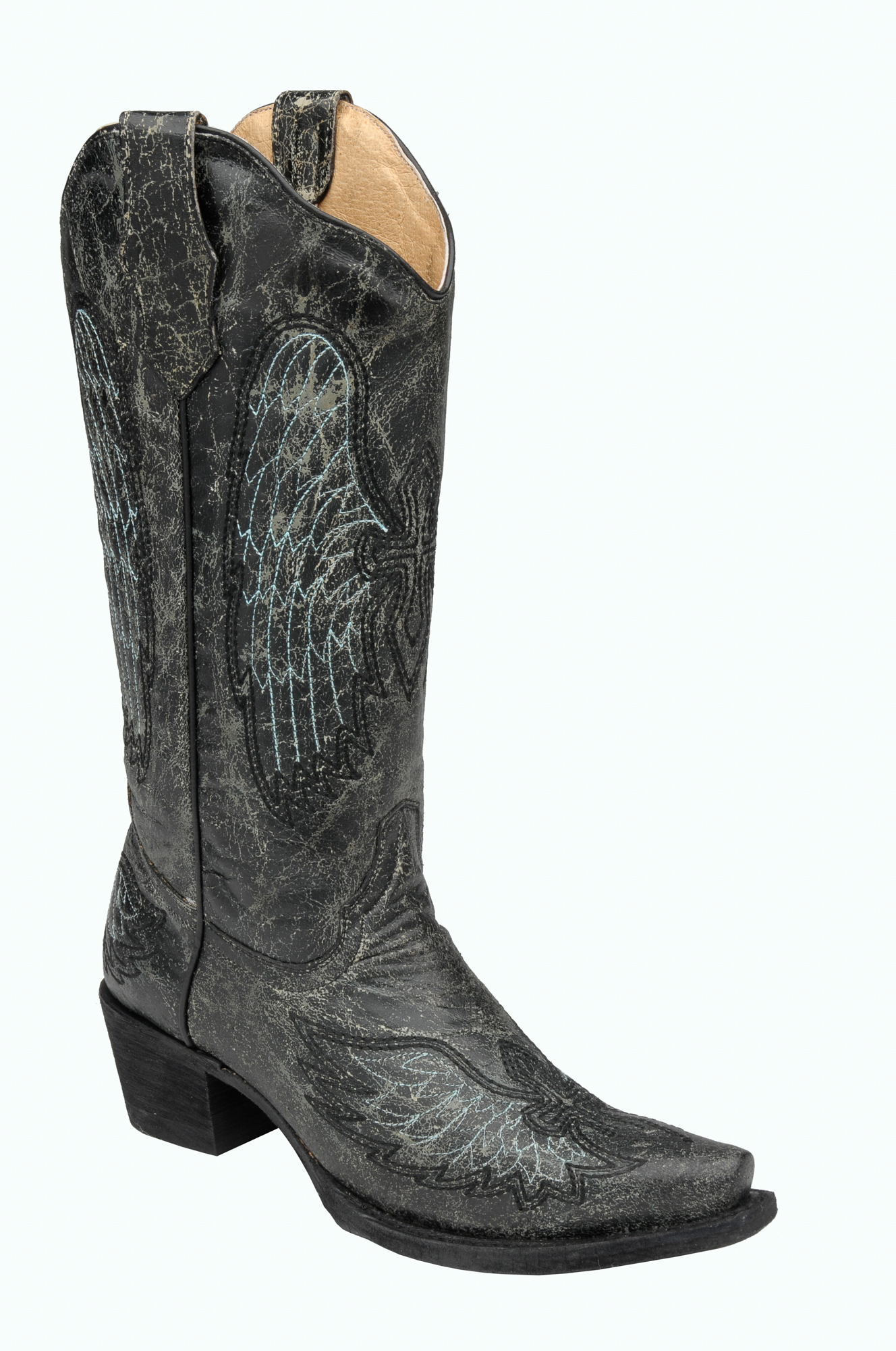 corral boots womens leather circle g wing cross black