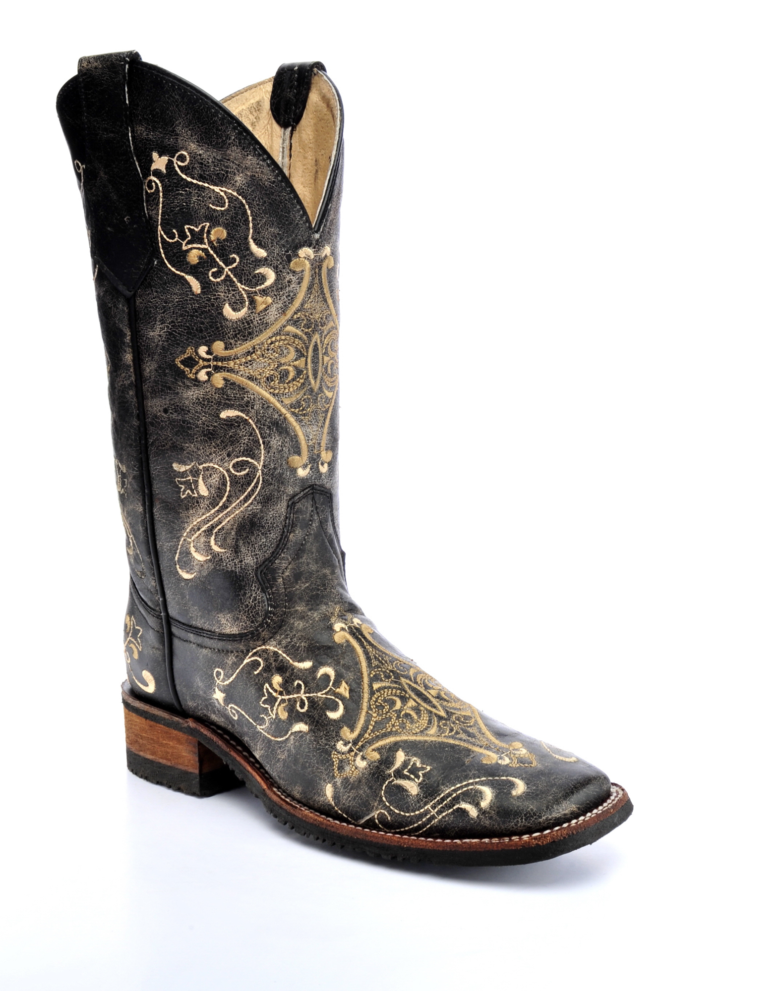 corral boots womens leather circle g crackle brown