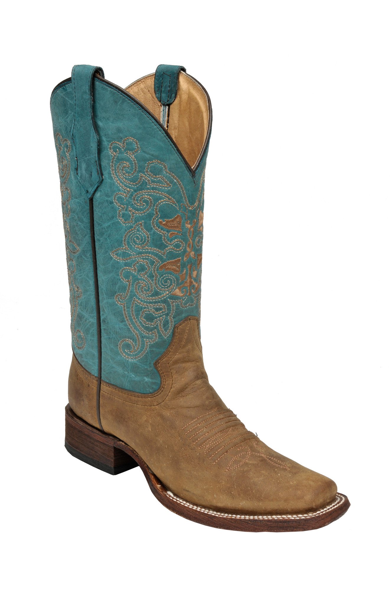 Unique Details About Corral # R1213 Turquoise Inlay Studded U0026 Embroidered Cowgirl Boots - Snip Toe ...