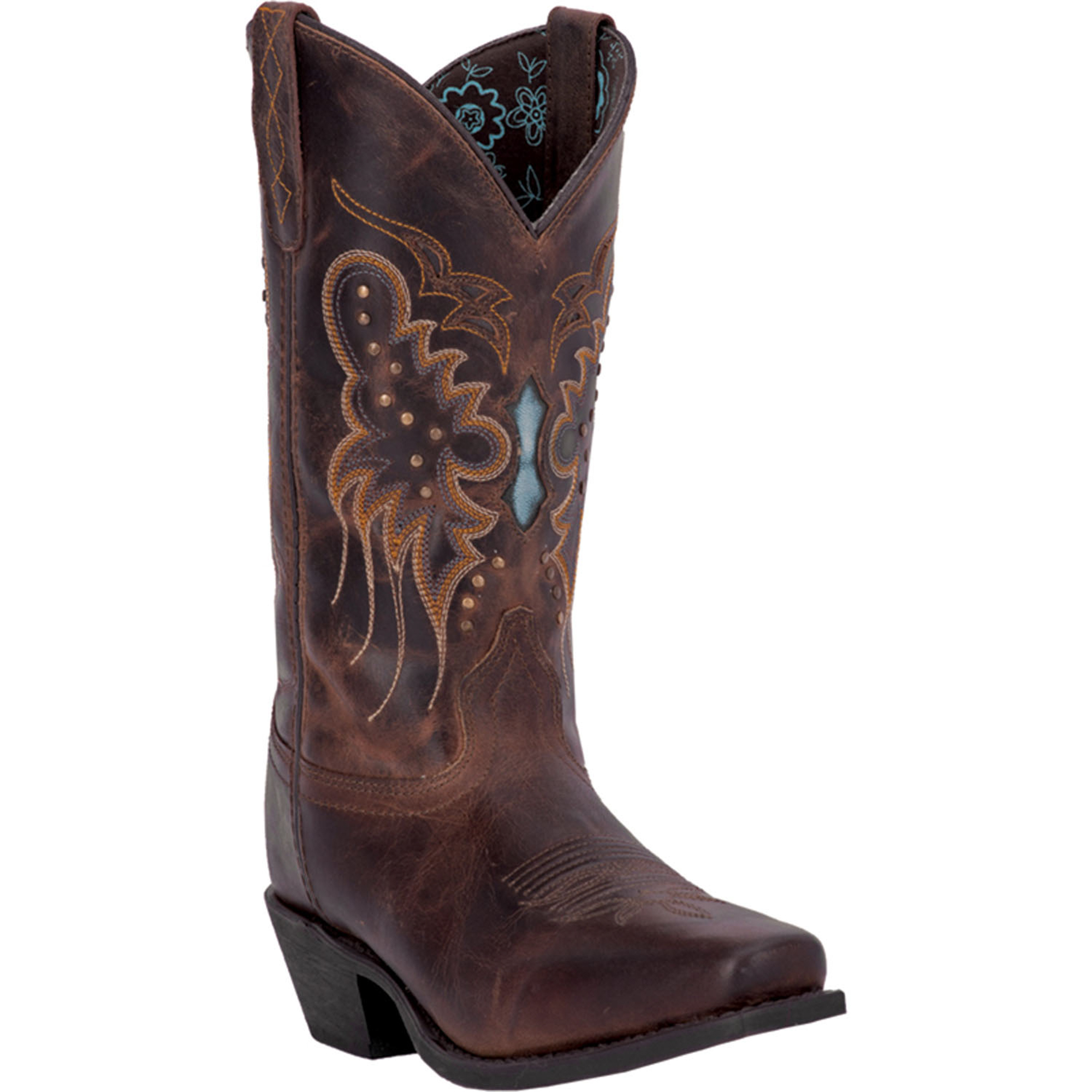 laredo womens brown leather cora studs underlay 11