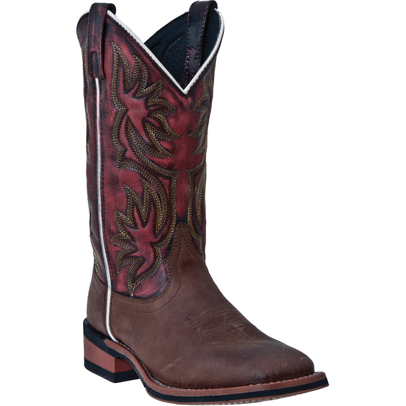 laredo womens brown leather gorge 11 quot broad square