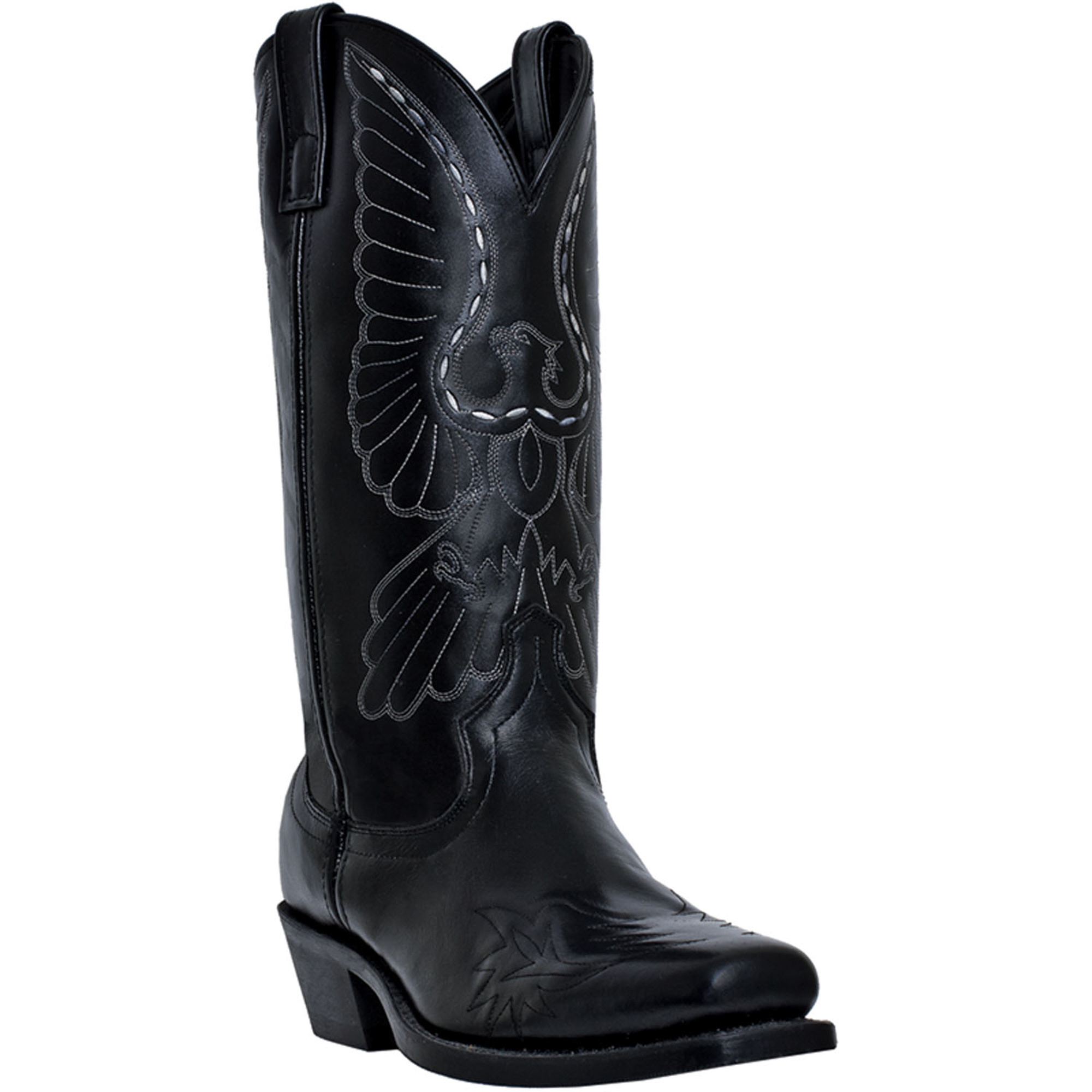 laredo mens black leather gainesville square toe bird
