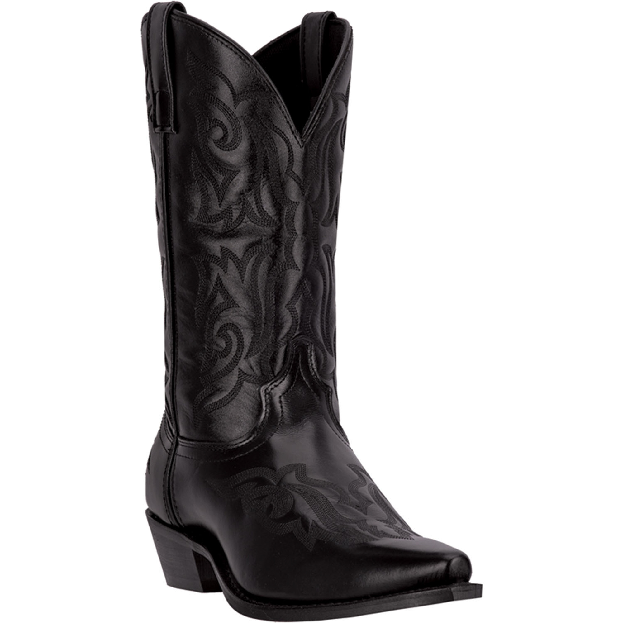 laredo mens black leather hawk 12 034 snip toe western