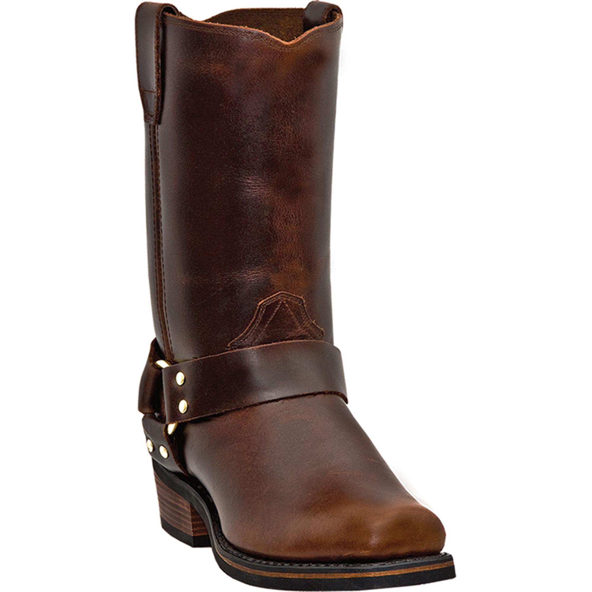 dingo mens mahogany leather 11 034 harness snoot toe