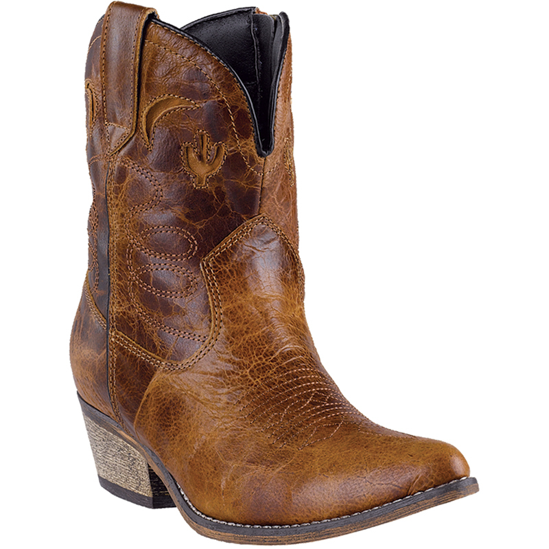 dingo 9 5 w womens brown krackle leather adobe 7 quot j