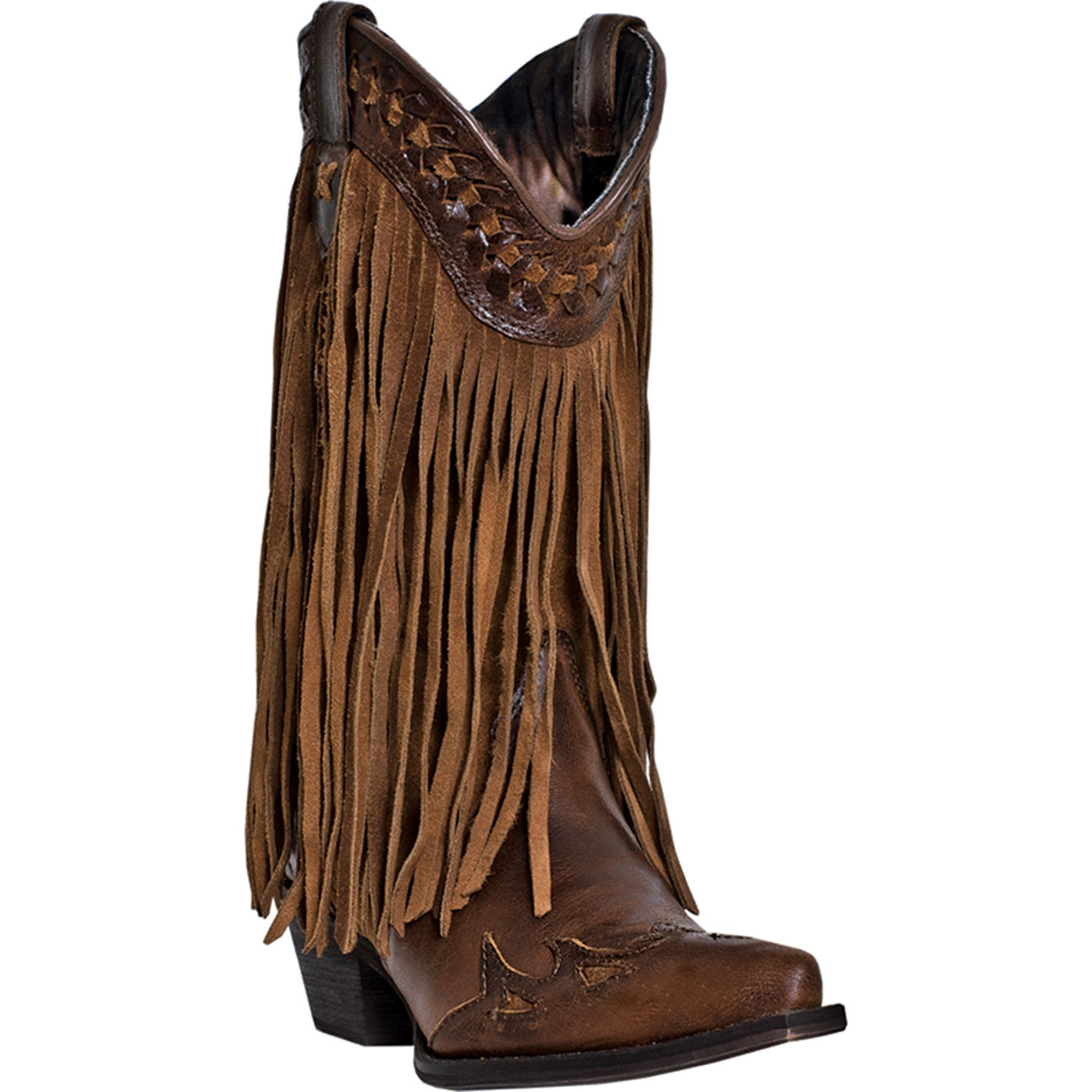 dingo womens russett leather throb 12 quot snip toe