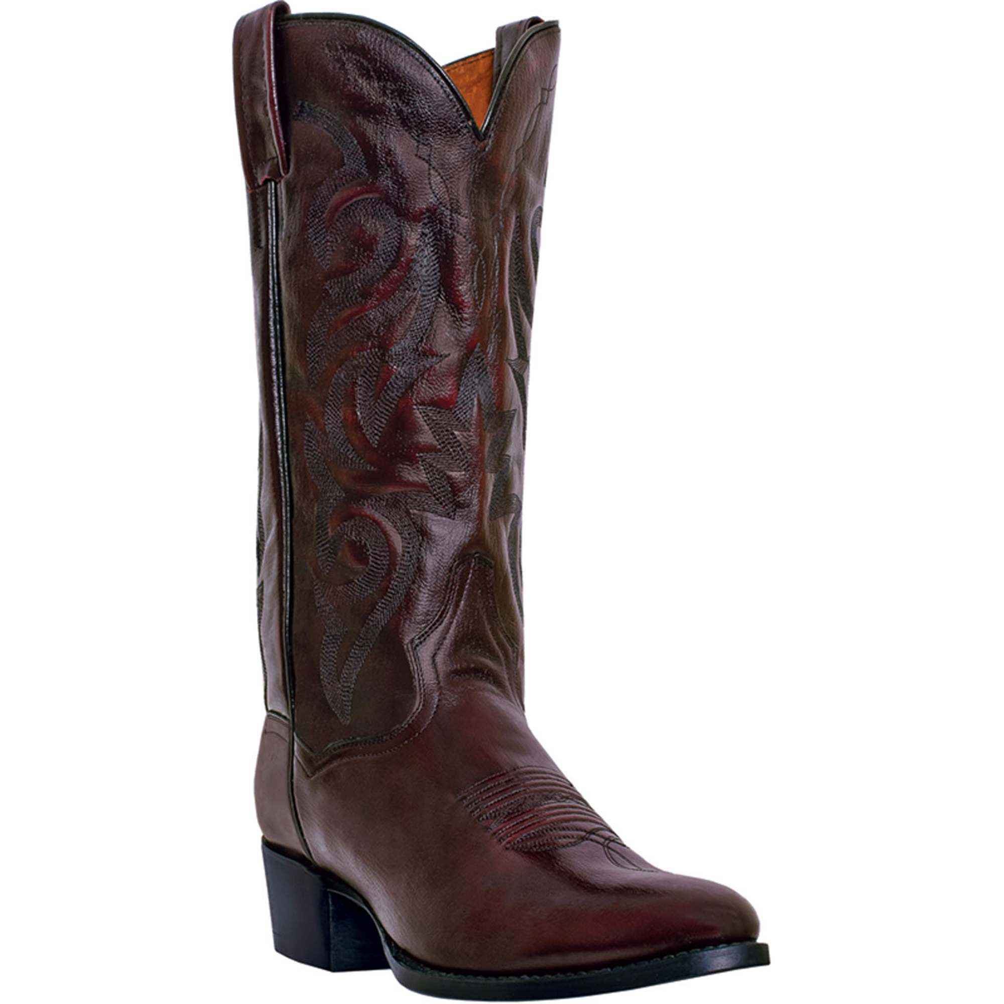dan post mens cherry leather milwaukee r toe 13 quot cowboy
