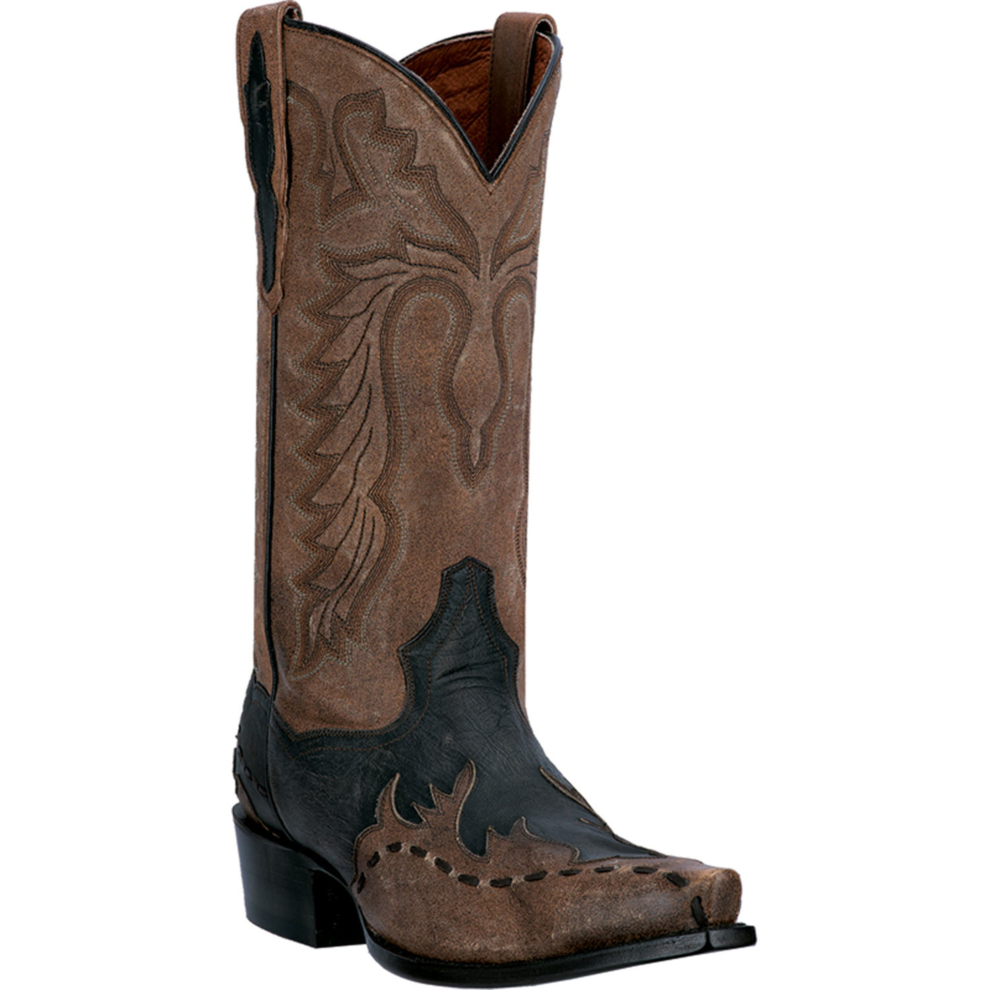 dan post mens chocolate rustic leather lucky western