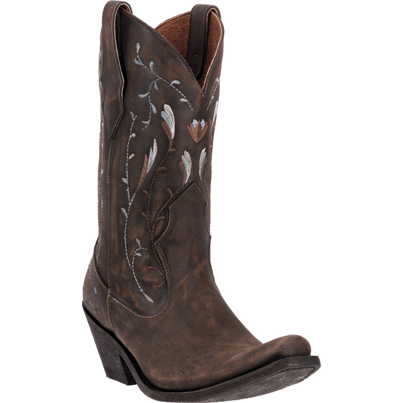dan post womens brown standing o sanded leather cowboy
