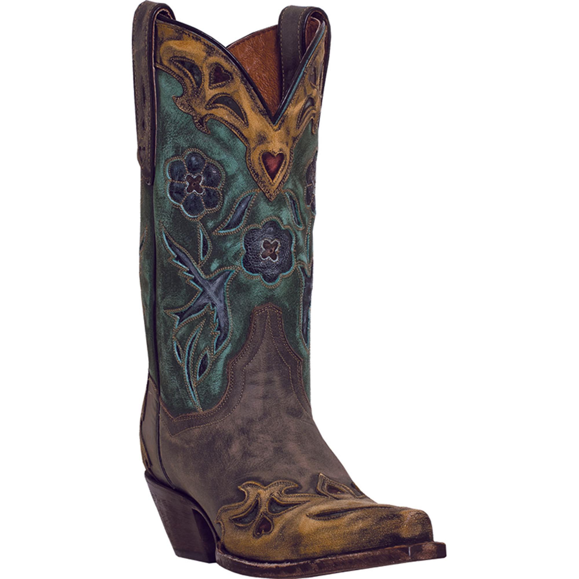 Fantastic Dan Post Womens Shabby Chic Western Boots