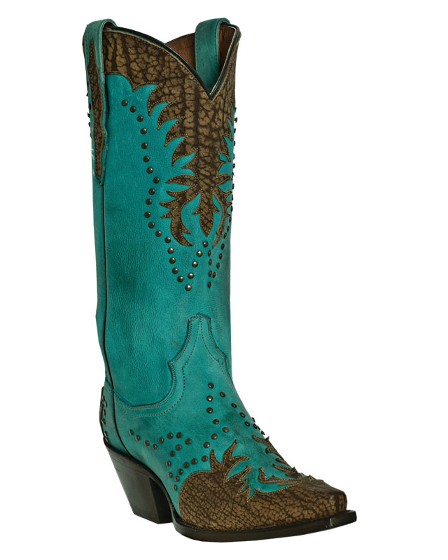 dan post womens turquoise studded leather invy 13 quot snip