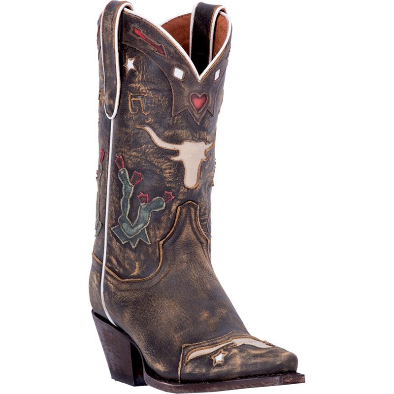 Wonderful DAN POST Womens Western Cowboy Boots Brown LEATHER Santa Rosa 3464 75