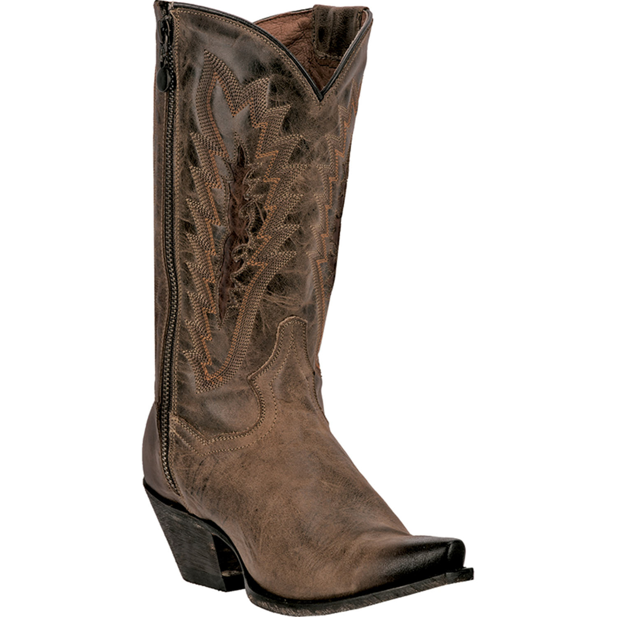 Creative  About Dan Post Womens Chocolate Leather Vintage Blue Bird Cowboy Boots