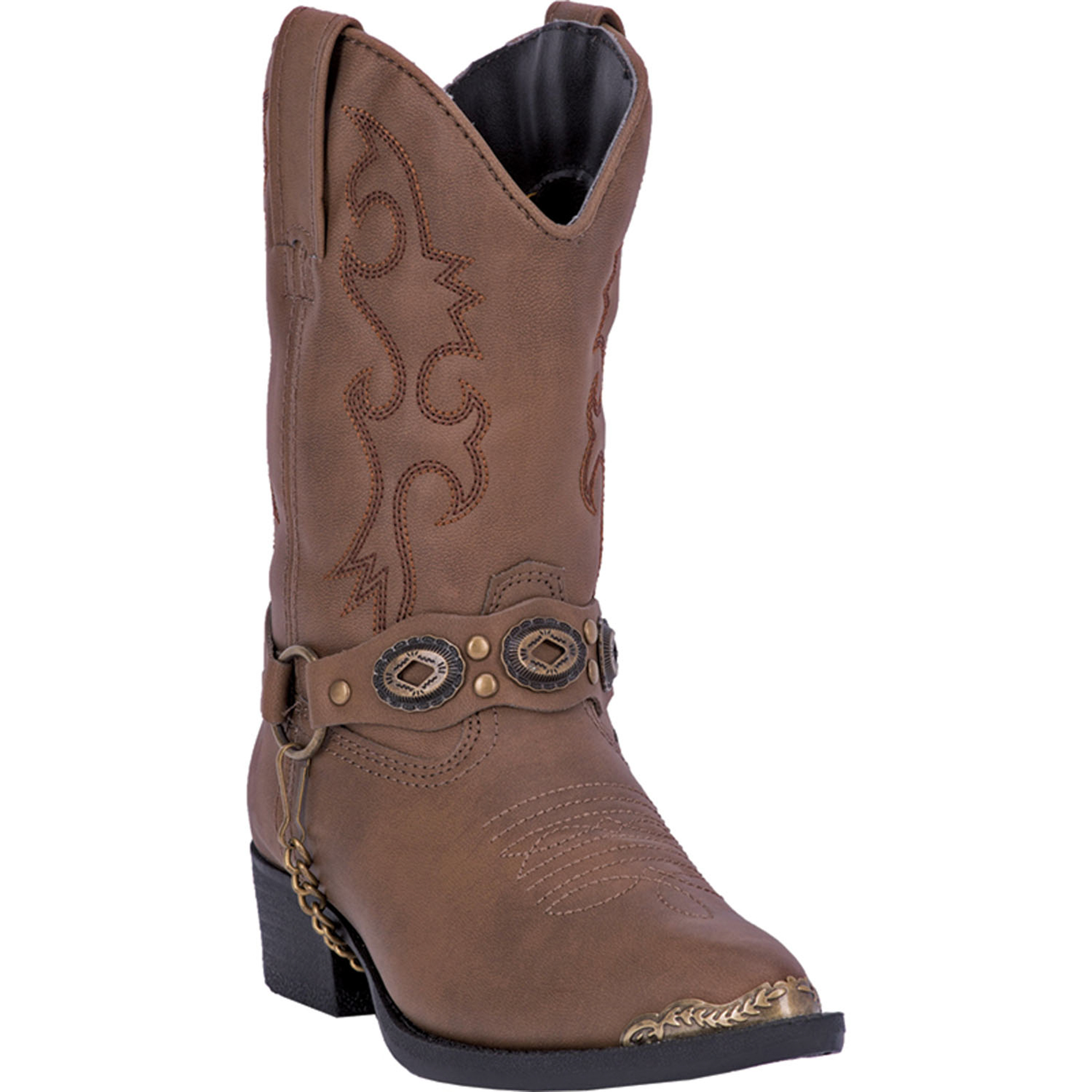 laredo childrens brown faux leather boys concho