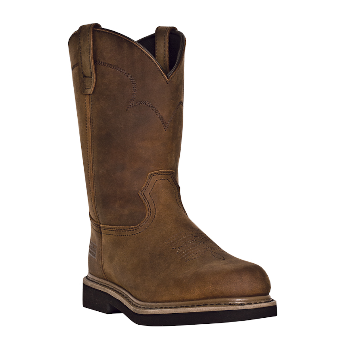 mcrae industrial mens chestnut leather 11 quot western pull on