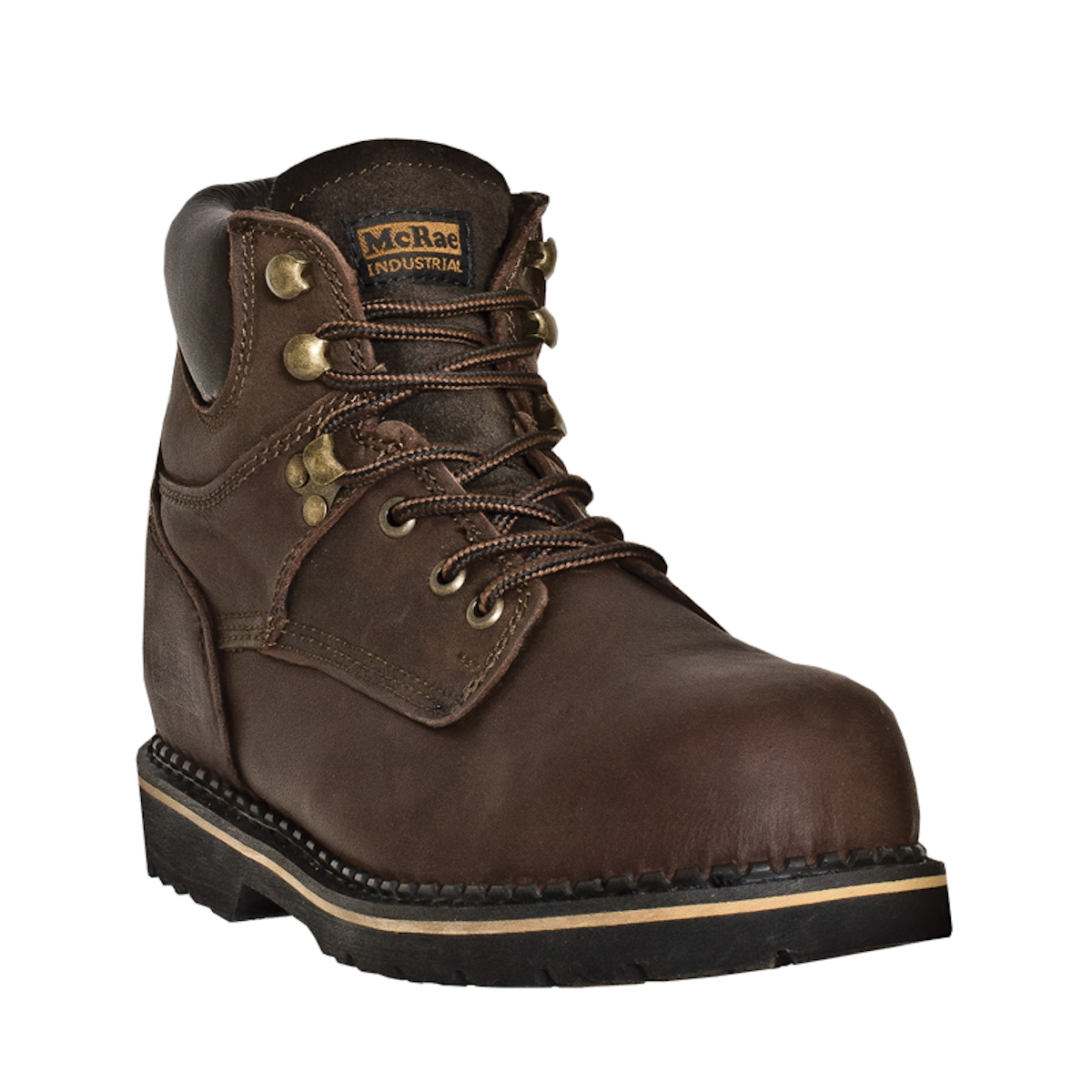 mcrae industrial mens brown leather 11 quot steel toe pull on
