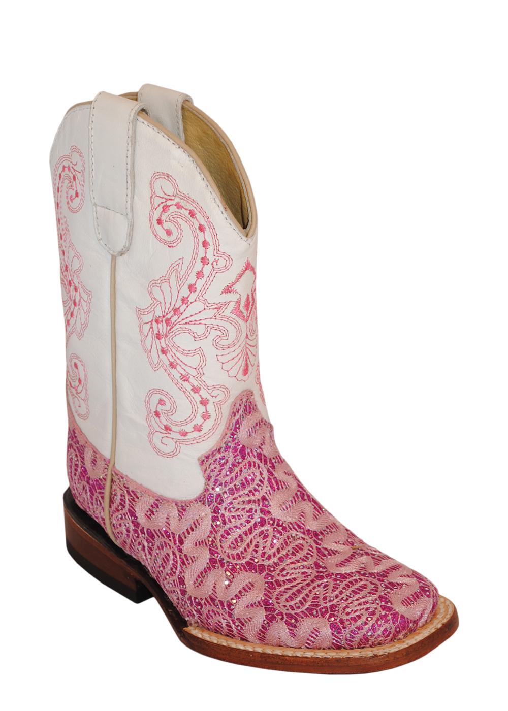 ferrini pink sparkle rockstar s toe leather