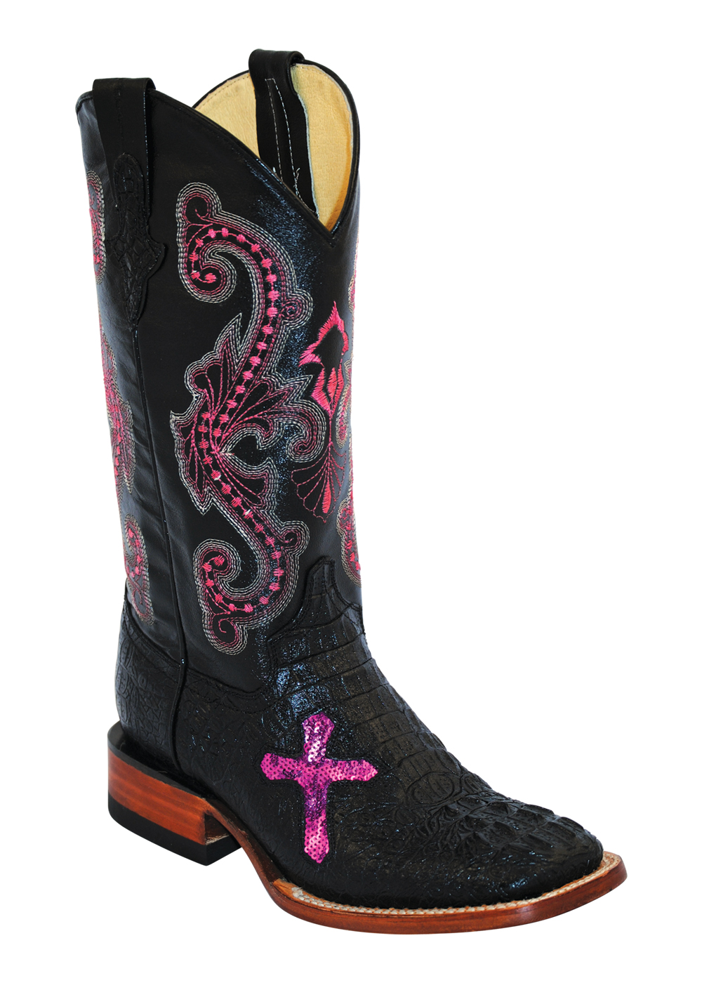 New Justin Justin L3703 Women Leather Black Western Boot Boots