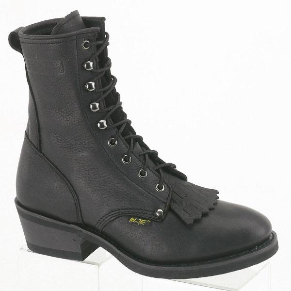 adtec mens black 9in packer grain leather work boots