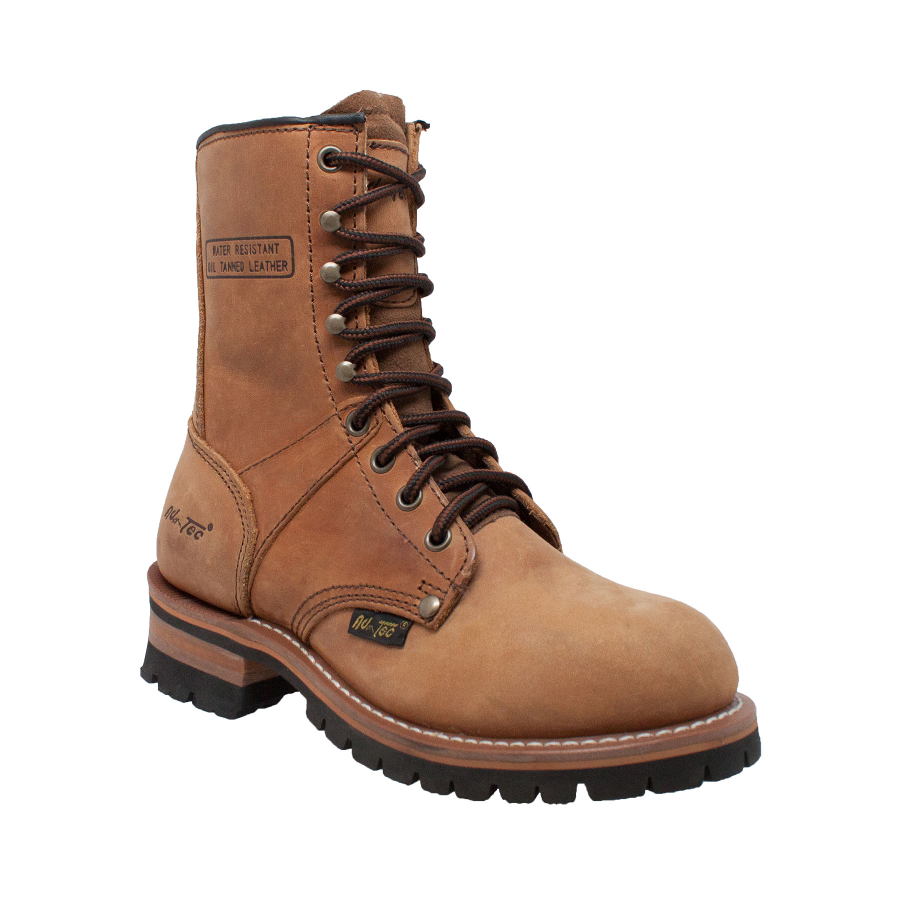adtec womens brown 9in logger leather work